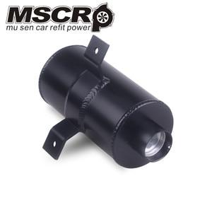 Image 3 - Universel aluminium noir 10AN moteur brossé déflecteur huile attraper boîte Kit réservoir 750ML W/reniflard filtre Kit cylindre 2 Port avant