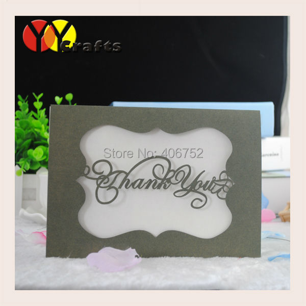 Simple Wedding Invitation Card With Thank You Or Couple Names(China  (Mainland))