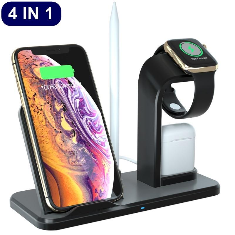 Handys & Telekommunikation Neue 10 W Qi Drahtlose Ladegerät Für Iphone X 8 Xr 4 In 1 Ladegerät Schnell Ladegerät Schnell Ladung Dock Für Apple Uhr 4 3 2 1 Carregador