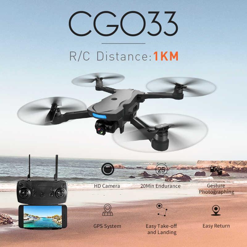Aosenma CG033 Drone 1KM Jarak Jauh Wifi FPV W/HD 1080P Gimbal Kamera GPS Brushless Mode 2 foldable RC Helicopter RTF Model