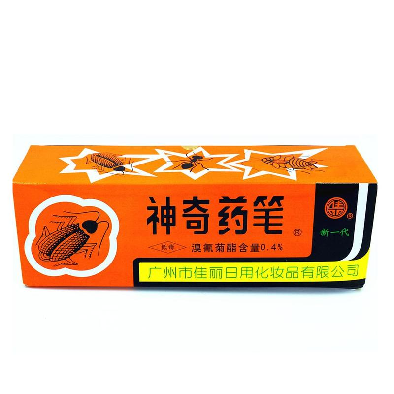 2Pcs/Box Insecticide Chalk  Anti Cockroach Killing Bait Box Miraculous Insecticide Chalk Pest Cockroach Roaches Magic Pen