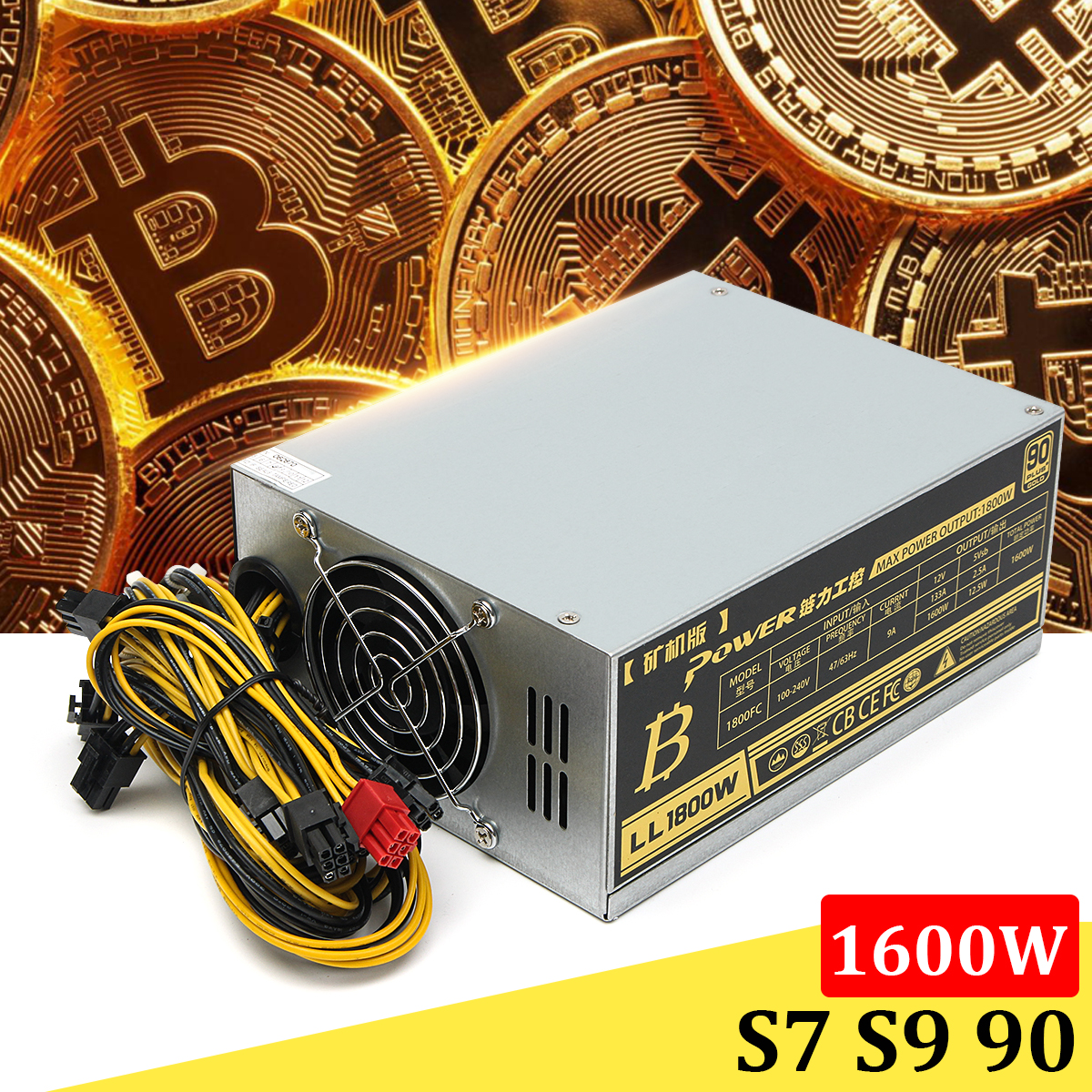 цена Max 1800W Mining Machine Power Supply For Eth Bitcoin Miner Antminer S7 S9 Ethereum