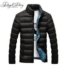 DAVYDAISY Venta caliente hombres invierno chaqueta del Collar del soporte acolchado cálido sólido grueso vestido Social hombre Parkas Coat ropa de marca DCT-059