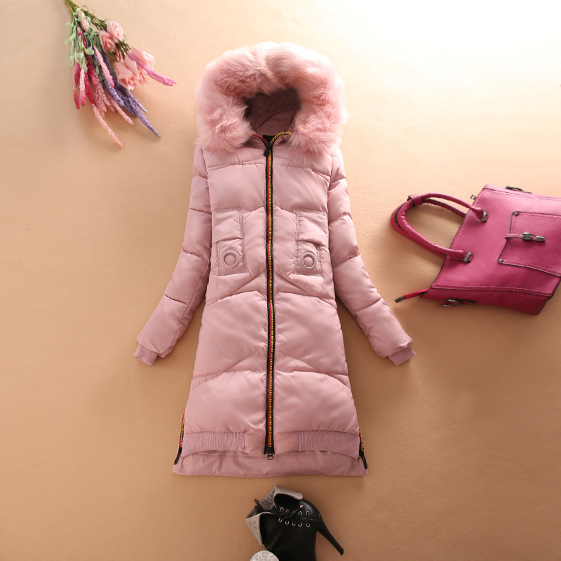 цена Long Patch Designs Coat Woman Winter Puffer Jacket 2017 Fur Hooded Military Parka Down Cotton Plus Size Outerwear M-XXXL онлайн в 2017 году