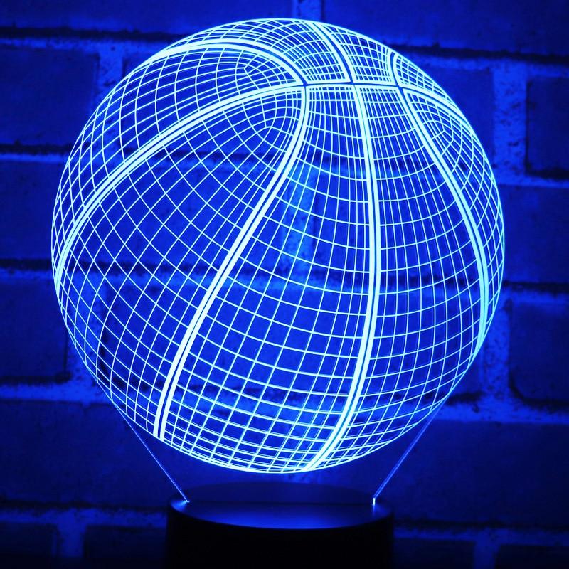 3D LED Nacht Lichter Basketball mit 7 Farben Licht für Home Dekoration Lampe Erstaunliche Visualisierung Optische Illusion Genial