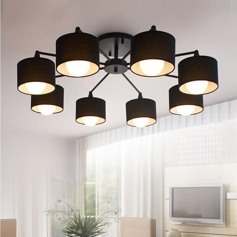 Modernas luzes Lustre sala de estar quarto LEVOU Incluem luminaria de teto moderno Lustre de Teto Luminárias