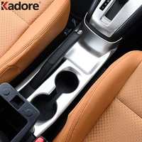 ABS Matte Water Cup Holder Boottle Placement Cover Trim Bezels Car Interior Accessories For Nissan Kicks