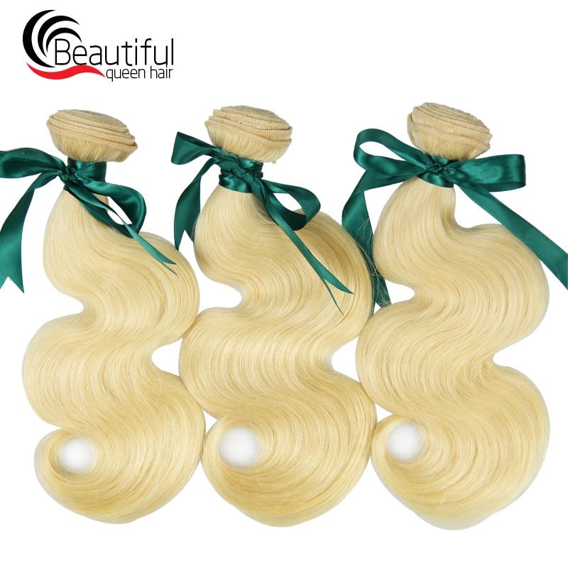 Beautiful Queen Natural Hair Extensions 10a 613 Blonde Hair 1 3