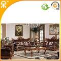 (1 + 1 + 3 lugares) importado de couro com tecido de sofá para sala de estar # CE-MD1202