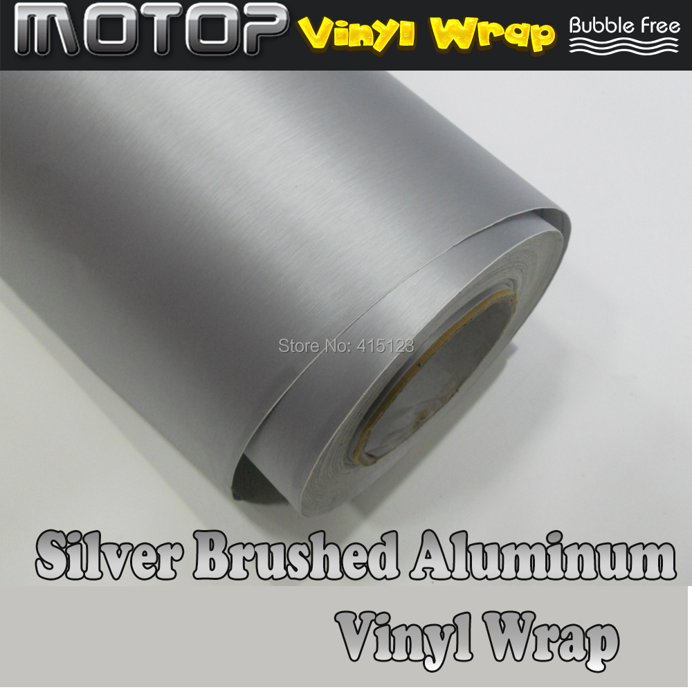 "*24/""x60/"" Brushed Aluminum Blue Vinyl Wrap Sticker Decal Air Release Bubble Free"
