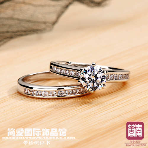 Di lusso di qualità 1ct taglio cuscino NSCD sintetico pietra wedding ring per le donne, argento massiccio anello di fidanzamento, proposta anello-in Anelli da Gioielli e accessori su  Gruppo 2
