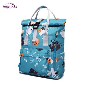 Image 1 - 2019 fashion Large Capacity Backpack Women Preppy School Bags For Teenagers women Nylon Travel Bags Girls LaptopBackpack Mochila