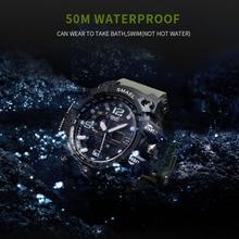 Military Sport Watch 50m Waterproof LED Quartz