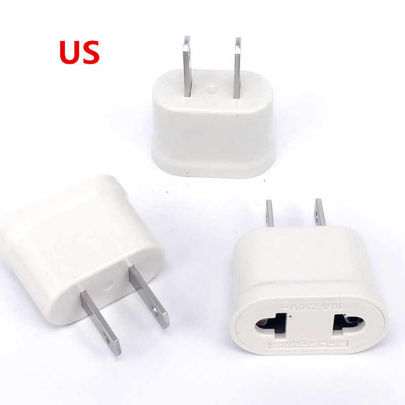 Europese EU Travel Plug Adapter Amerikaanse Ons EU Euro Power Adapter Outlet AC Converter Stopcontacten