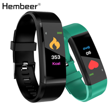 Color Screen Men Smart Bracelet Blood Pressure Fitness Tracker Heart Rate Monitor Smart Band Sport for Android IOS pk mi band 3 smart fitness sport smart watch blood pressure heart rate monitor bracelet band monitor smartwatch fo ios android pk miband 3 m3