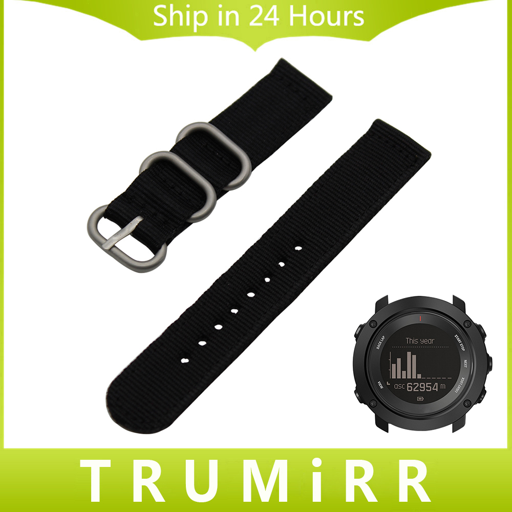 Nylon Watchband + Tool for Suunto Ambit 3 Vertical / Spartan Sport HR Watch Band Steel Buckle Strap Zulu Wrist Bracelet Black 24mm nylon watchband for suunto traverse watch band zulu strap fabric wrist belt bracelet black blue brown tool spring bars