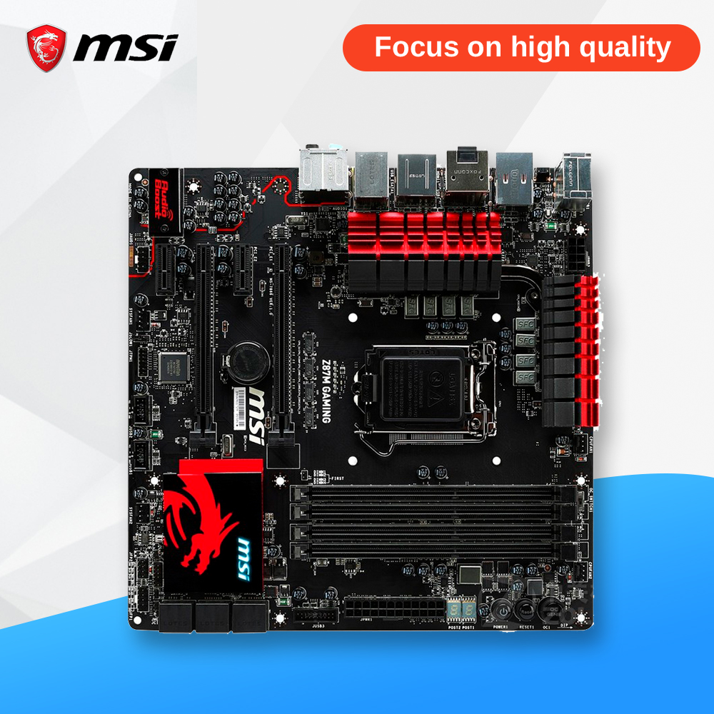 MSI Z87M GAMING Original Used Desktop Motherboard Z87 Socket LGA 1150 i3 i5 i7 DDR3 32G SATA3 USB3.0 Micro-ATX
