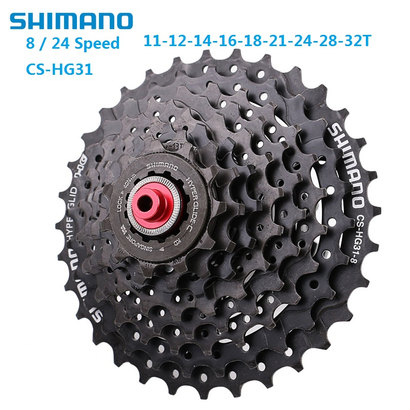 Original <font><b>SHIMANO</b></font> CS <font><b>HG31</b></font> Bicycle Freewheel <font><b>8</b></font> 24 Speed 11T-32T Bike Cassette Flywheel MTB Mountain Bicycle Chainring Accessories image