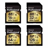 Kimsnot-tarjeta SD profesional de alta velocidad para cámara Nikon y Canon, 90 Mb/s, 64GB, 128GB, 256GB, SDXC, 16GB, 32GB, SDHC, 600x