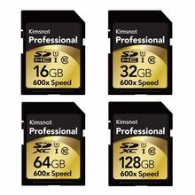 Kimsnot Professional 90Mb/s 64GB 128GB 256GB SDXC SD Card 16GB 32GB SDHC Card Memory Card High Speed 600x For Nikon Canon Camera