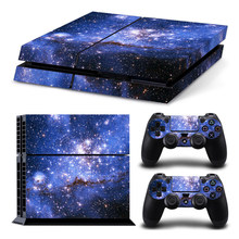 Galaxy Star Vinyl Skin Sticker Cover For Sony PS4 Console with 2 Controllers Decal For Playstation 4 For Dualshock 4 Gamepad(China)