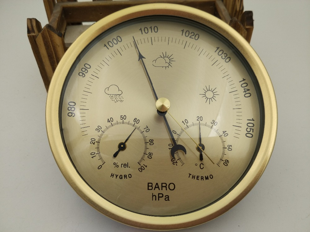 New 1pcs quality precision aneroid 132mm 3 in 1 barometer for Barometer and fishing