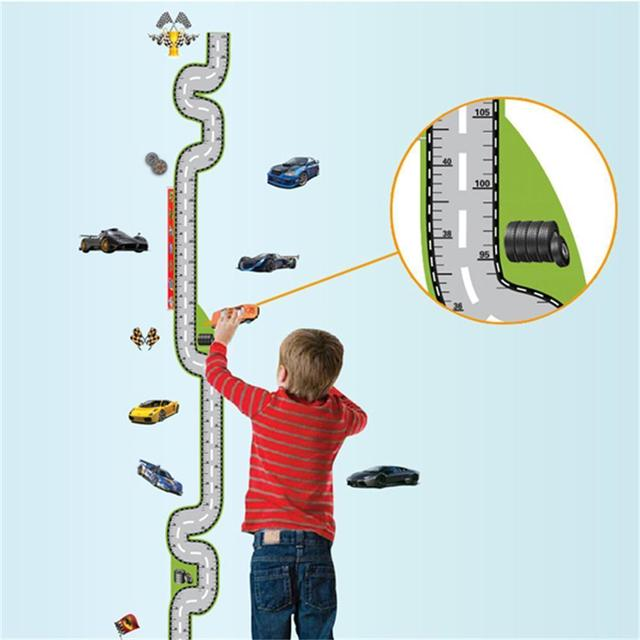 Cool Cars Race Track Height Chart Wall Sticker Decal Kids Nursery Decor & Cool Cars Race Track Height Chart Wall Sticker Decal Kids Nursery ...