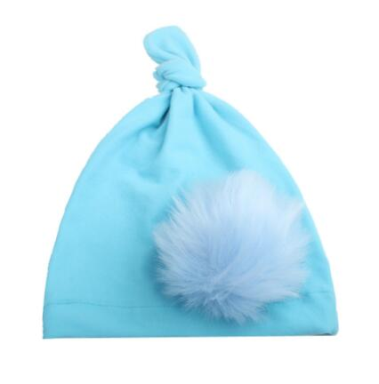 on sale 1pcs Newborn Knitting Hat Bohemia India turban knot Hats Beanies Photography Props photo Gorro Fur Ball Cap pastoralism and agriculture pennar basin india