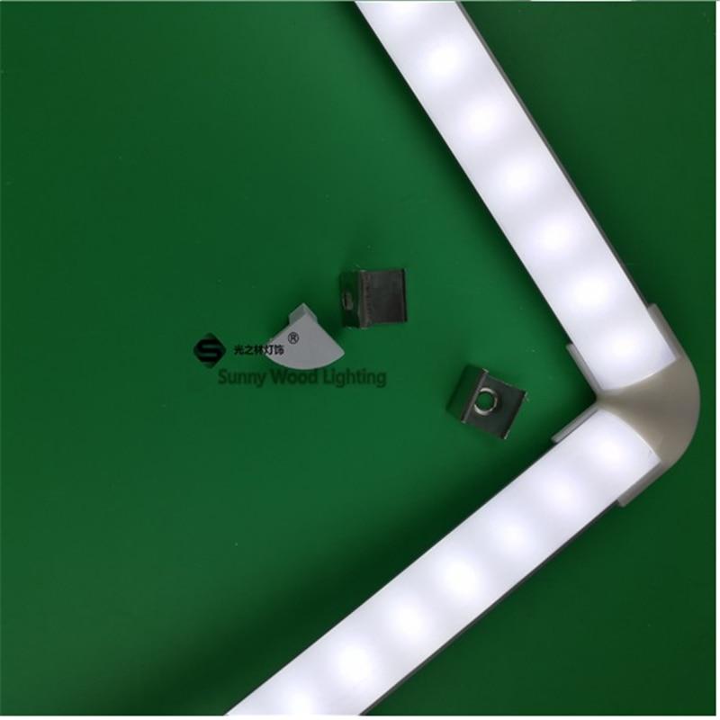 2pcs/lot 12VDC 45degree Corner Profile With 5630 Strip ,7W Cabinet Rigid Strip For Showcase ,mirror ,kitchen ,window ,cupboard