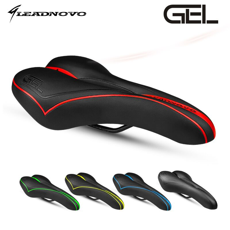 In Stock LEADNOVO upgrade saddle silica gel soft sillin mtb road bicycle <font><b>cushion</b></font> seat cycling high quality bike parts
