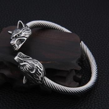 VIKING Two Wolf Head Bracelet Adjustable Bracelet  Viking Bracelet