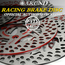 AKCND Motorcycle universal 220MM brake disc For yamaha Honda bws smax DIO PCX  Front & Rear Brake System motorcycle front shock absorber suspension fork brake caliper brake disc axle akcnd one set for yamaha scooter modify