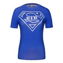 Women Superman T Shirts Superhero Fitness Tights Under Tees