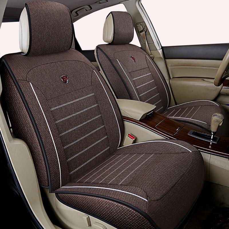 High quality linen Universal car seat cover for BMW F10 F11 F15 F16 F20 F25 F30