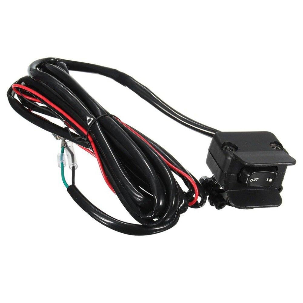 Motorcycle ATV/UTV 3 Meters Winch Rocker Switch Handlebar Control Line Warn Kits 12V Full Sealed Switch Connectors Supplies