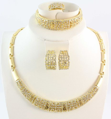 2014 African jewelry set Vintage gold necklace Fashion full rhinestone costume plated - WWS Jewelry (Min Order $10 store)