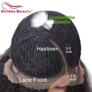 Image 5 - Peruca de cabelo sintético para mulheres, 24 polegadas, peruca cabelo sintético longo, castanho e resistente ao calor, cabelo natural, beleza dourada