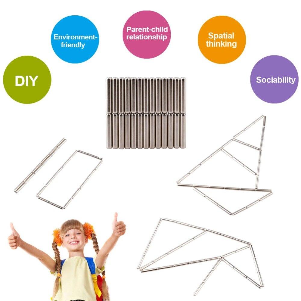 100 Stücke Magnetische Sticks Druck Relief Pädagogisches Spielzeug Innovative Spielzeug Bausteine Puzzle Spielzeug Set Mit Keine Magnetische Kugel Extrem Effizient In Der WäRmeerhaltung
