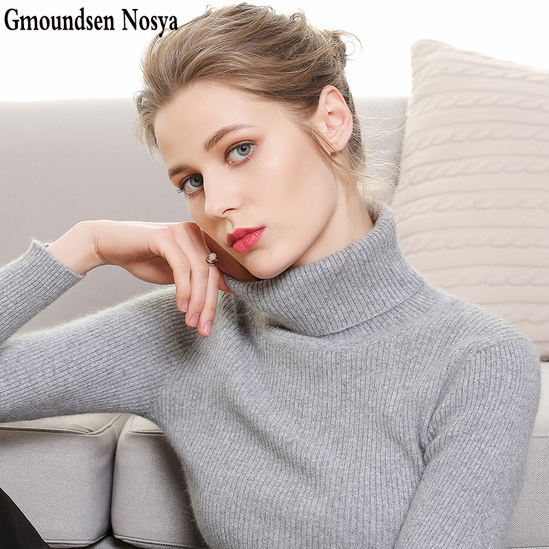 2019new Sweater Women Turtleneck Cashmere Sweater Pullover Women Knitted Sweater Slim Fit Sweaters Winter Clothes Women Sweaters