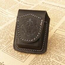 Модный кожаный чехол-зажигалка ручной работы, керосиновая зажигалка, чехол-держатель, сумка, портативная, коричневая, черная, коробка для прикуривателя