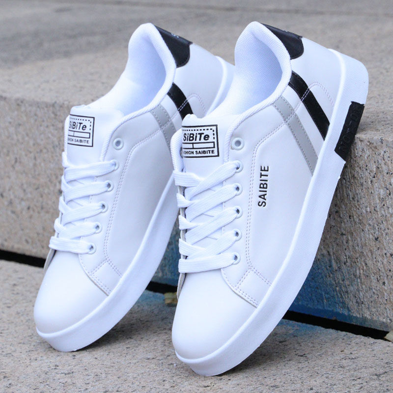 New Spring Men's Shoes Men's White Shoes Korean Trend