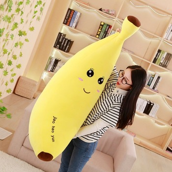 100 Cm Soft Cartoon Banana Plush Toy Super Soft Stuffed Fruit Banana Pillow Cushion Toys For Children