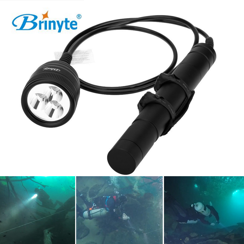 Brinyte XM-L2 LED Diving Flashlight Torch 3000lm Waterproof Underwater 150m Magnetic Switch Diver Flash Light Lanterna Lamp