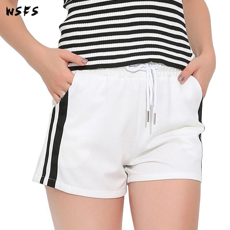 6xl Ladies Sport Shorts Womens Summer Black White Biker Shorts Plus Size Hot Trousers Drawstring High Waist Korean Casual Short