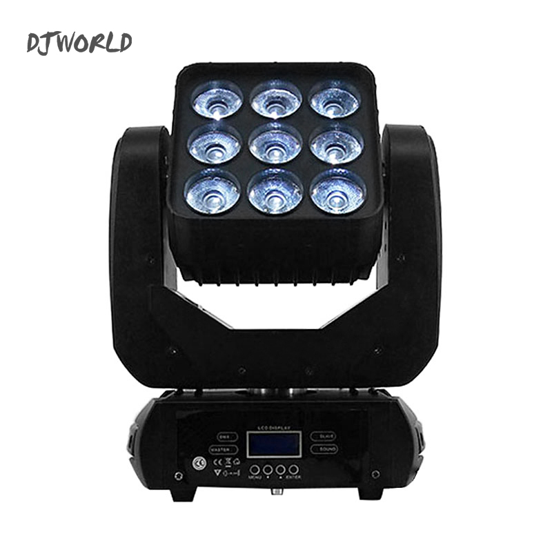 2pcs/lot DJWorld LED 9x12W 4in1 Matrix DMX512 Beam Moving Head For Wedding Decoration Christmas For Home Led Lamp Disco Stage