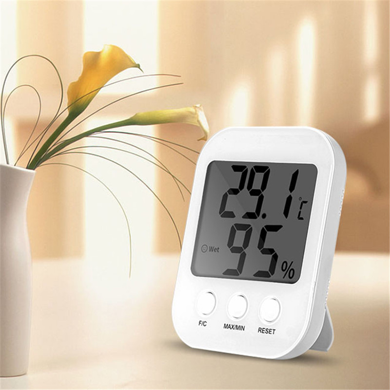 bakeey loskii smart home sh 15 digital indoor humidity temperature monitor thermometer. Black Bedroom Furniture Sets. Home Design Ideas