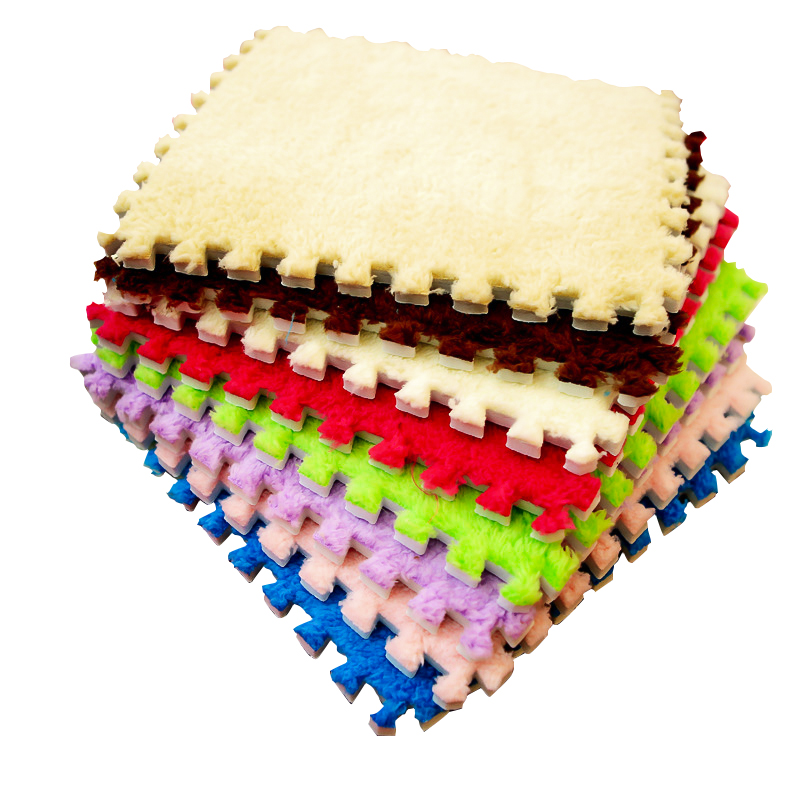 New Top Sale 30*30cm Living Room Bedroom Children Kids Soft Carpet Magic Patchwork Jigsaw Splice Heads Climbing Baby Mat 1pcs