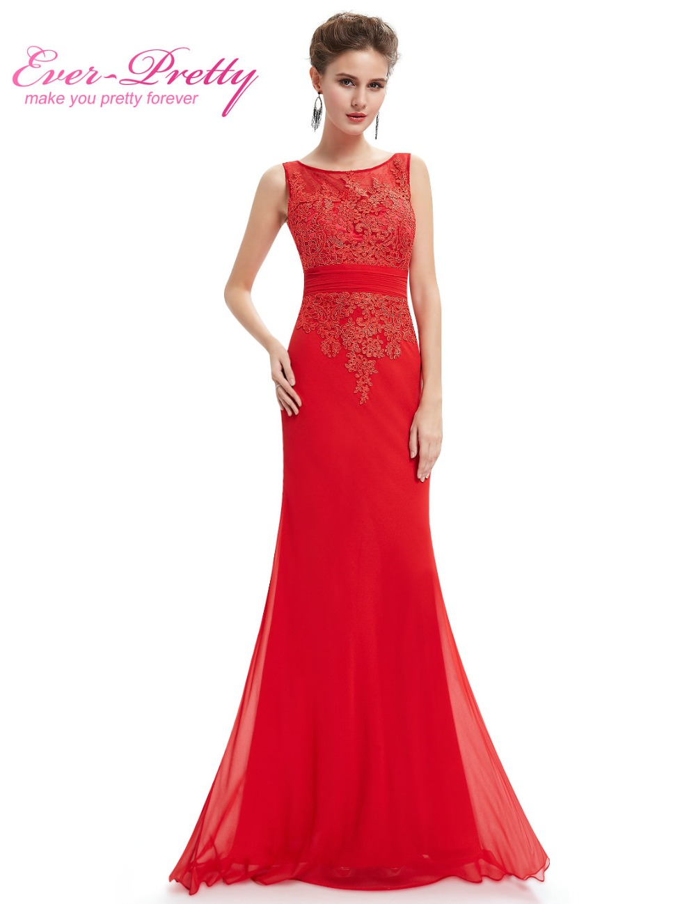 20fa6a3877709 US $84.99 |Long Red Evening Dress Ever Pretty HE08763VE Real Photos Evening  Lace Dresses Sexy Plus Size Evening Dress-in Evening Dresses from Weddings  ...