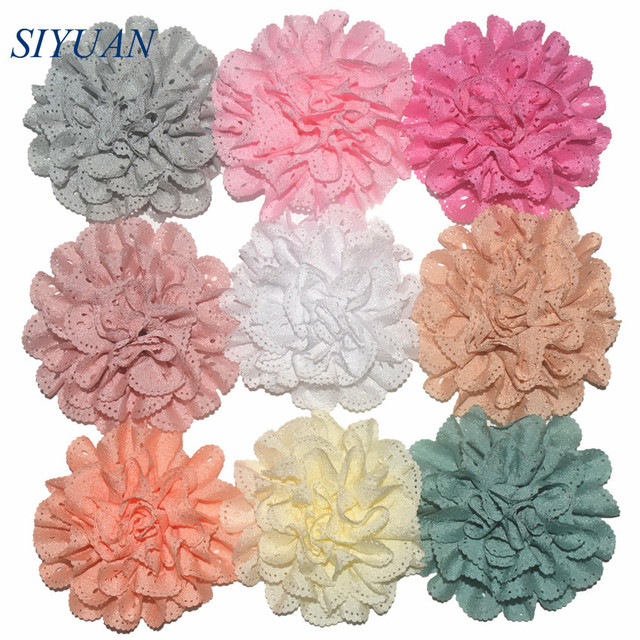 100Pcs/lot Wholesale Wave Hollow Out Baby Head Flower Girl's Hair Accessories Headdress Fabric Cloth Flower TH03