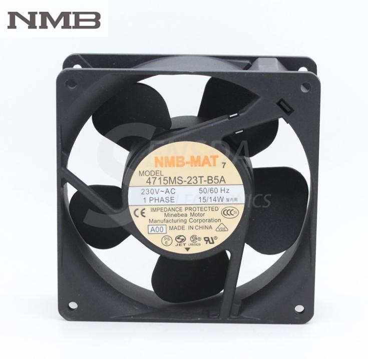 Original NMB 4715MS-23T-B5A AC 230V 12038 12cm 120mm industrial metal axial Cooling Fans new and original 12cm 4715kl 04w b50 12038 1 3a double row ball bearing cooling fan for nmb 120 120 38mm